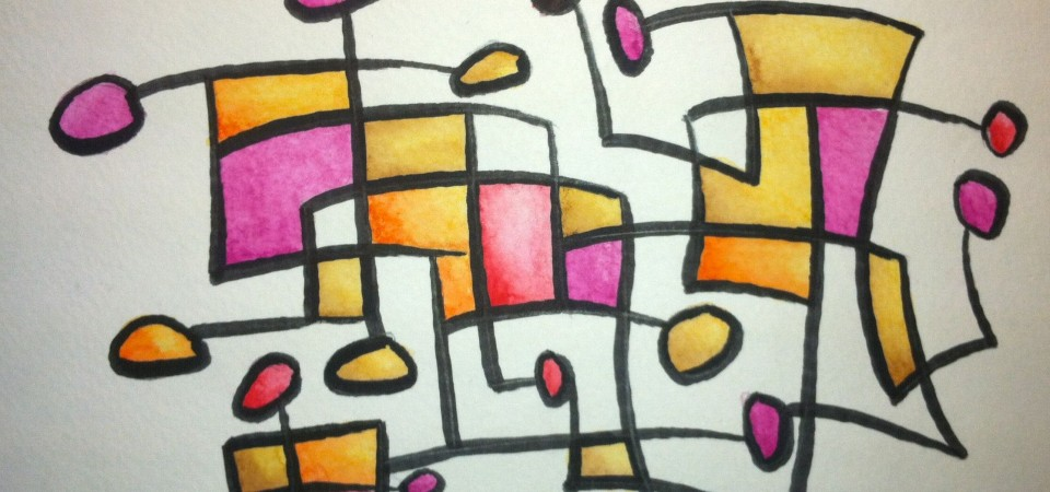 Club Hopping – 9x6in Watercolor – Kevin Houchin