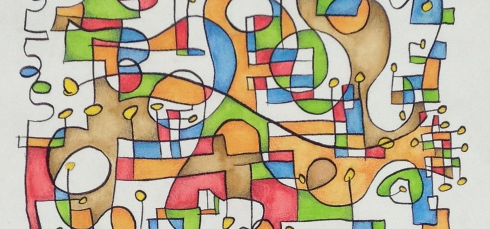Abstract 18×24 Watercolor – Kevin Houchin – June 2013