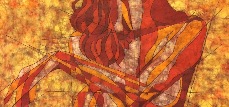 Elemental Fire – Batik by Kevin Houchin
