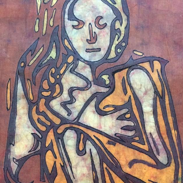 Silence – Batik by Kevin Houchin