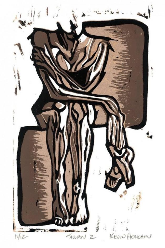 Jillian 2 – Linocut Print by Kevin Houchin