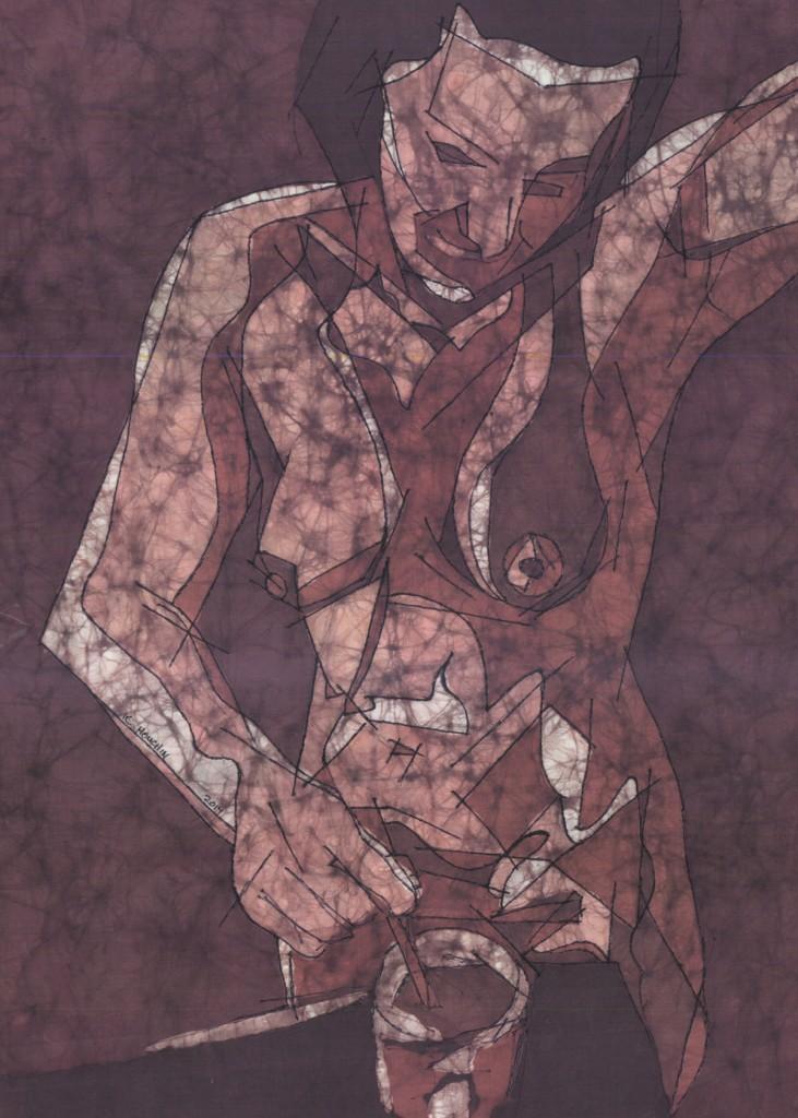 Memory of Coffee - Fine Art Batik by Kevin Houchin