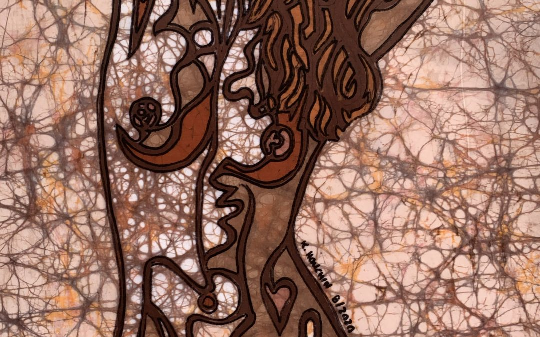 Fine Art Batik – Bold Figure 1 – 15×20