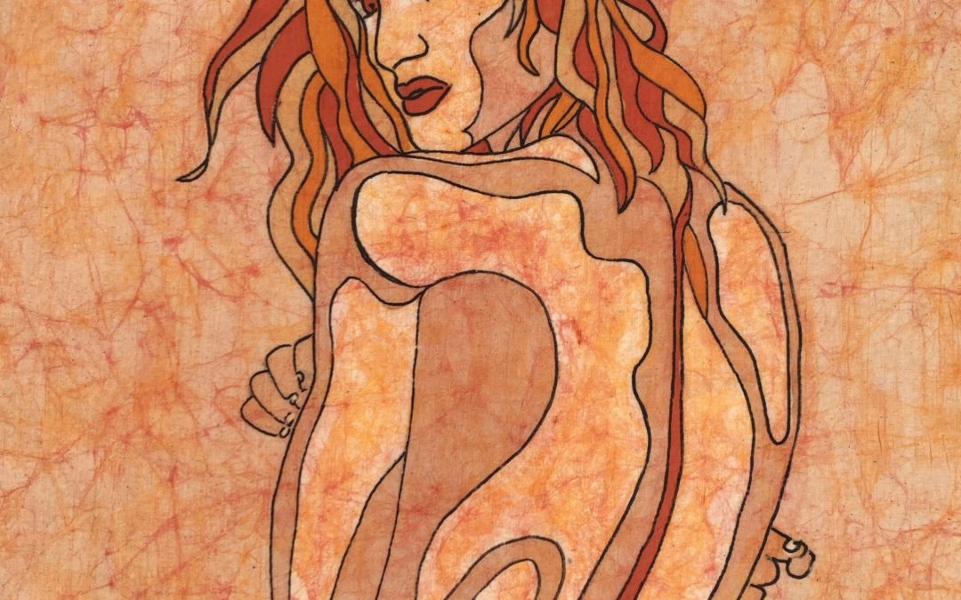 Kyra – Mirage – 18×24 Batik by Kevin Houchin