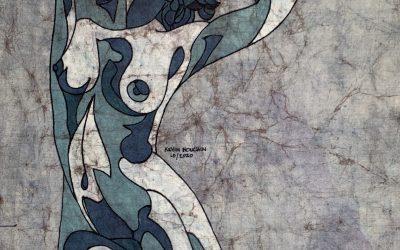 Cool Flame – 14×20 inch Fine Art Batik