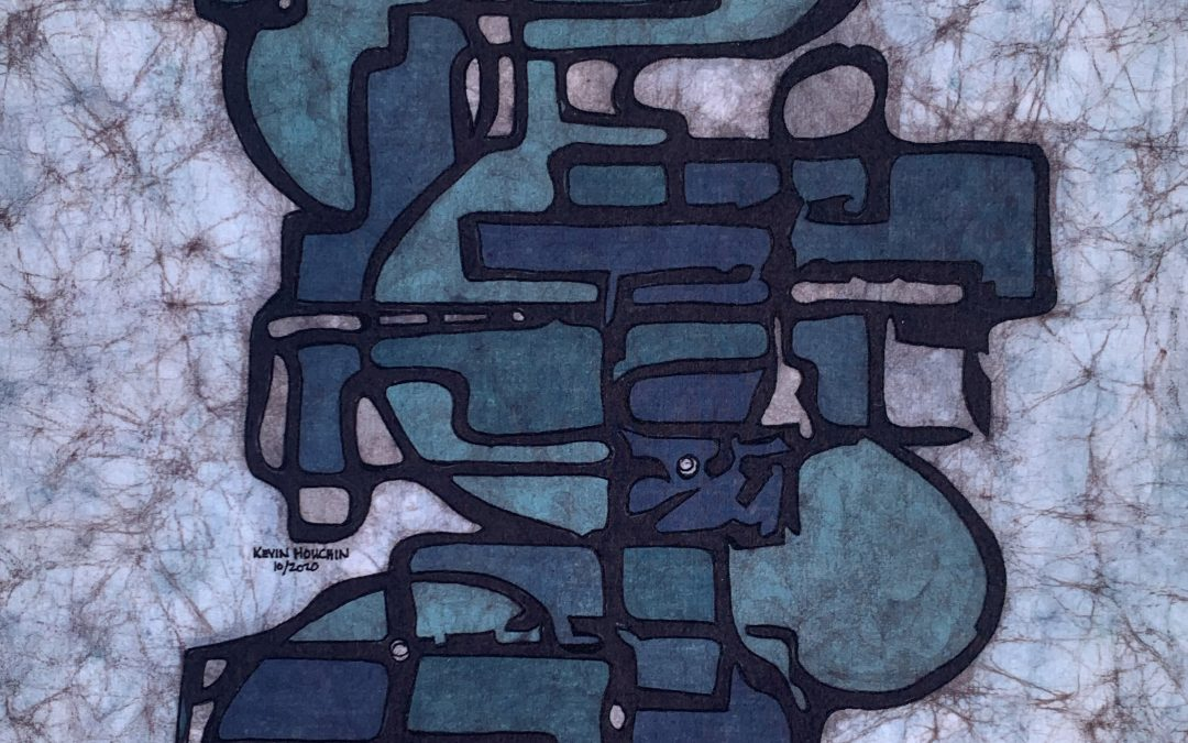 Modern Architecture – 18×24 inch Fine Art Batik