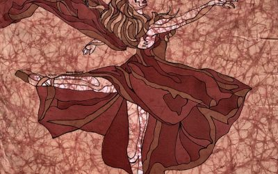 Renee Dance 1 – 20×20 Fine Art Batik
