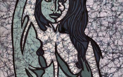 Siren Calling – 20×30 inch Fine Art Batik