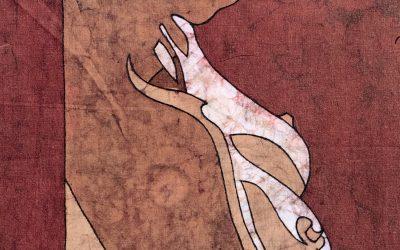 Silhouette – 10×14 inch Fine Art Batik