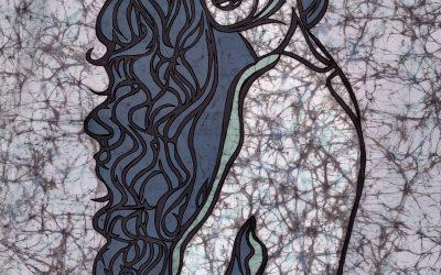 Mermaid Hair 1 – 20×30 inch – Fine Art Batik
