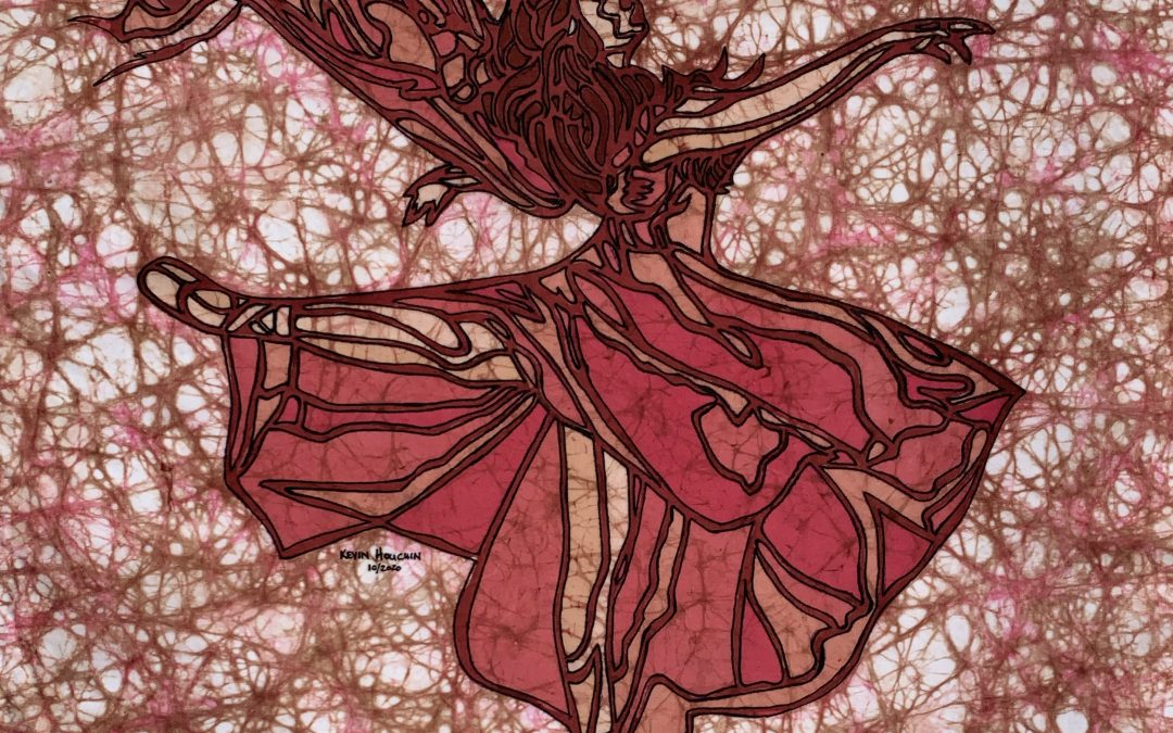 Renee Dance 2 – 20×20 Fine Art Batik