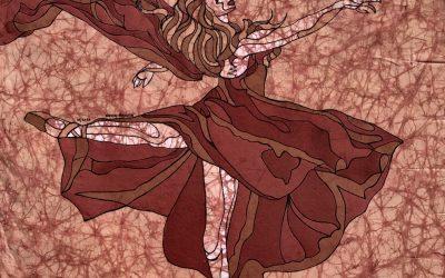 Renee Dance 1 – 20×20 Fine Art Batik
