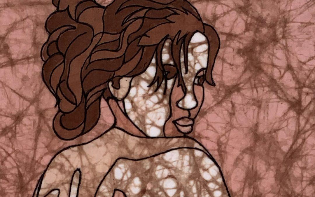 Warm Shoulder – 12×18 inch Fine Art Batik
